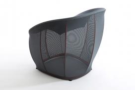 基于人类心理和运动的LAYER Design弹性座椅
