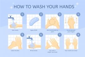 勤洗手消毒的素材卡通图