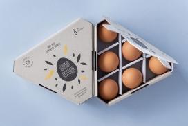 独特菱形空间的鸡蛋盒子