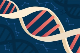 卡通的DNA螺旋素材
