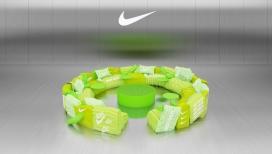 配有绿色的耐克夹克虚拟沙发