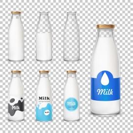 鲜牛奶奶瓶素材
