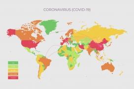 冠状病毒扩散感染地图