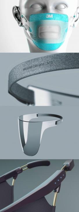 使听障人士可以阅读嘴唇的未来面罩口罩设计