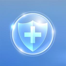 蓝色安全卫士盾牌素材