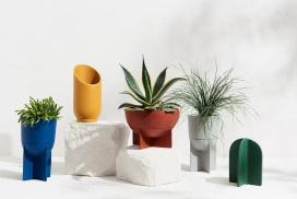 无缝接水盘的新花槽花瓶设计