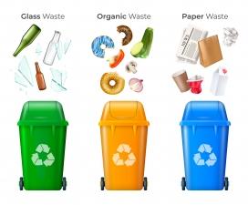 有机垃圾回收玻璃