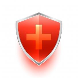 红色十字架盾牌素材