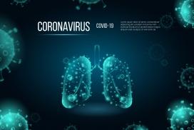 肺部感染冠状病毒概念科技图
