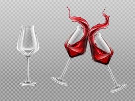 干杯的红酒