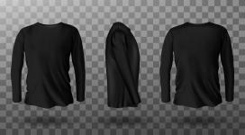 时尚黑色T恤衫EPS素材下载