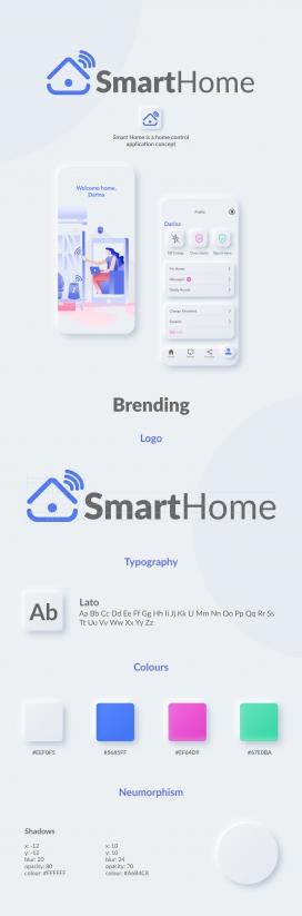 Smart Home智能家居手机APP界面设计