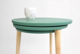 一种具有新颖有趣扩展收缩方式改变其表面积的SLIDE桌子