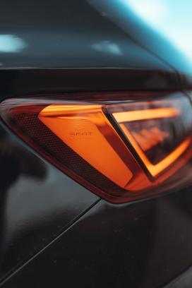 汽车尾灯写真图