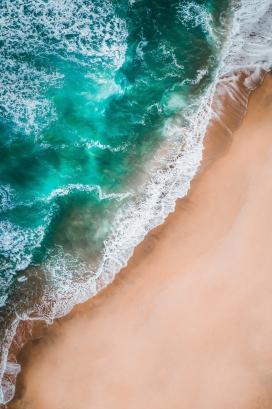 蓝色海浪卷
