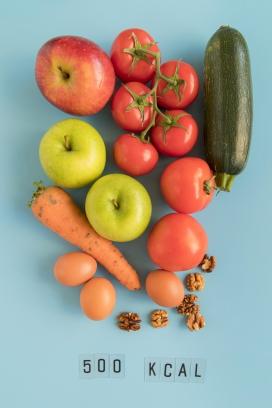 新鲜的西红柿青苹果黄瓜图