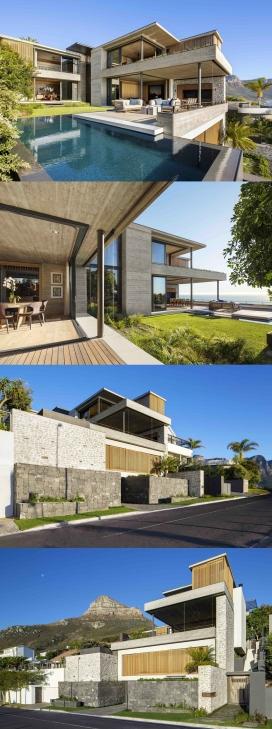 开普敦大西洋海岸上的堆叠式豪华家居设计