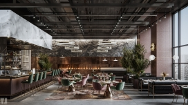Zircon工业化风格的餐厅