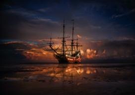 帆船风景图