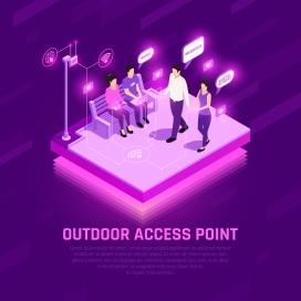 紫色的互联网移动设备测试科技图