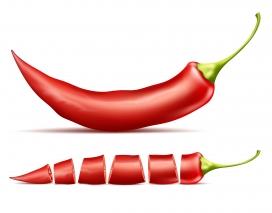 新鲜的辣椒素材