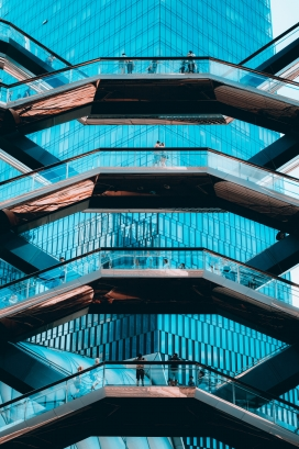 美国哈德逊广场围栏楼梯