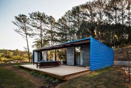 巴西180平米的蓝色树林集装箱夏宫