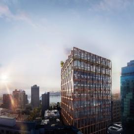 温哥华网格编织框架的建筑