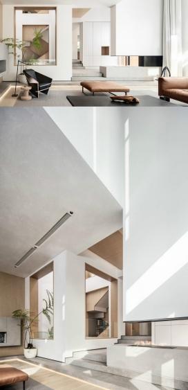 充满层次感和光线的中国豪华住宅
