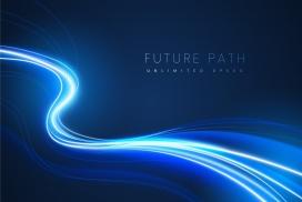 流畅动感的蓝光曲线素材
