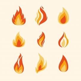 卡通火焰素材