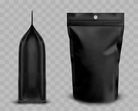 黑色咖啡包装袋素材