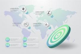 世界地图靶子素材