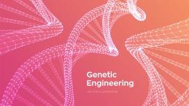 粉红色的DNA基因图表