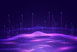 紫色概念大数据科技素材