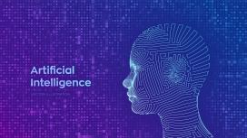 抽象线框AI智能数字科技人