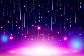 霓虹灯抽象壁纸
