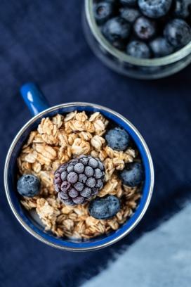 蓝莓与燕麦片
