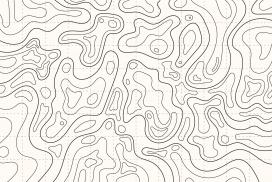 地形曲线图轮廓