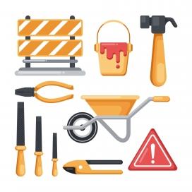 工程装饰工具素材