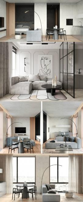 具有功能性和天赋的小公寓