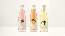 水果标签风味的果汁