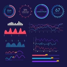 信息图表增长仪表板模板