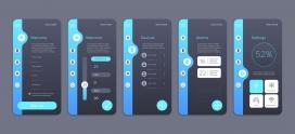 智能家居集合屏幕应用APP界面设计