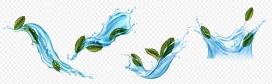 https://www.2008php.com/蓝色水花与茶叶素材