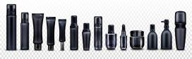 黑色化妆品瓶罐素材