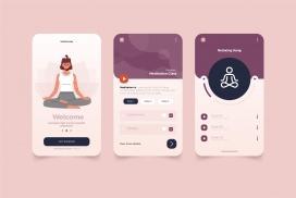 瑜伽锻炼app界面设计