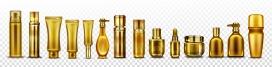 金色护肤品瓶子素材