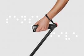 """使用实时图像识别功能来帮助视障者""""看""""的智能手杖"""