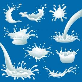 浇撒的卡通牛奶奶花